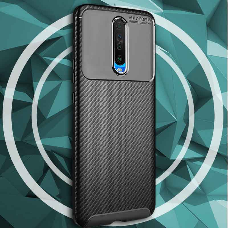 Poco X2 Carbon Fiber ShockProof Armor Mobile Cover