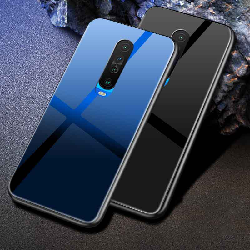 Poco X2 Real Glass Case with Soft Silicon Sides Mobile Cover