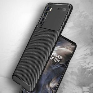 OnePlus Nord Carbon Fiber ShockProof Armor Back Cover