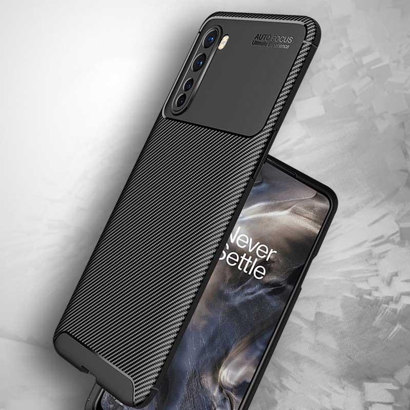 OnePlus Nord Carbon Fiber ShockProof Armor Back Cover