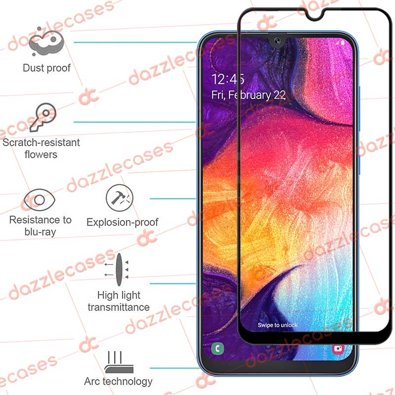 samsung galaxy A50 ultra tempered glass screen protector